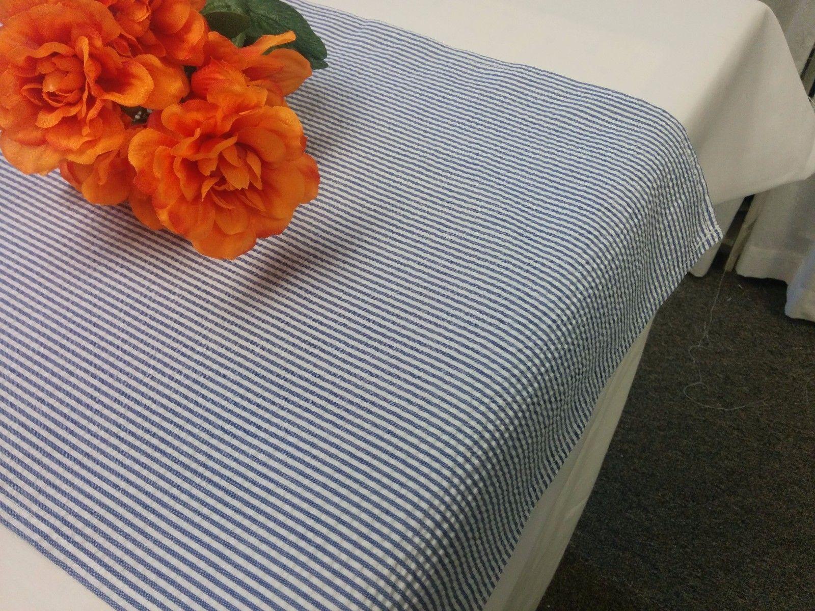 Seersucker Table Runner Navy Blue White And 50 Similar Items