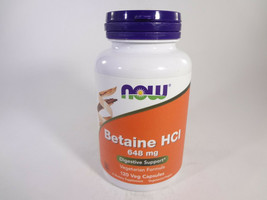 NOW Betaine HCI 648 mg Digestive Support 120 Veg Capsules [VS-N] - $14.03