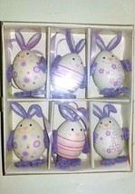 6 x Easter Bunny Egg Decorations Ostern Home Decor in Box Happy Easter Gift - $12.02