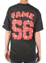 Hall of Fame Hombre Black Rose Cuenco Camiseta Manga Corta 56 Rosas Fútbol Nwt image 2