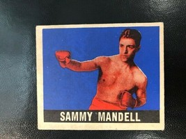 1948 Leaf Boxing  #24 SAMMY MANDELL  HOF - $14.85