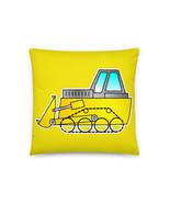 Yellow Bulldozer Construction Digger Excavator Builders Cartoon Vehicle ... - $28.50+