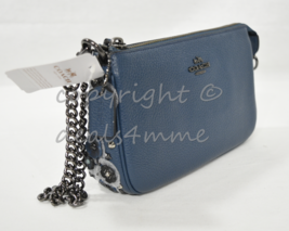 Coach 59381 Nolita Wristlet 19 in Polished Pebble Leather Willow Floral ... - €134,28 EUR