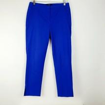 Tahari Womens Career Work Pants Size 4 Blue Stretch Straight Zip Front EUC - $32.65