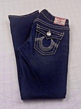 True Religion Women's Jeans Billy Big T Dark Distress Blue Denim Jeans 2... - $26.84