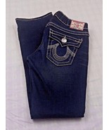 True Religion Women's Jeans Billy Big T Dark Distress Blue Denim Jeans 2... - $26.84
