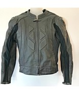 Sedici #16 Motorcycle Riding Jacket Mens size S 38 Armored Black CR - $124.95