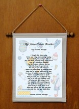 Big Sister Little Brother - Personalized Wall Hanging (132-1) - $19.99