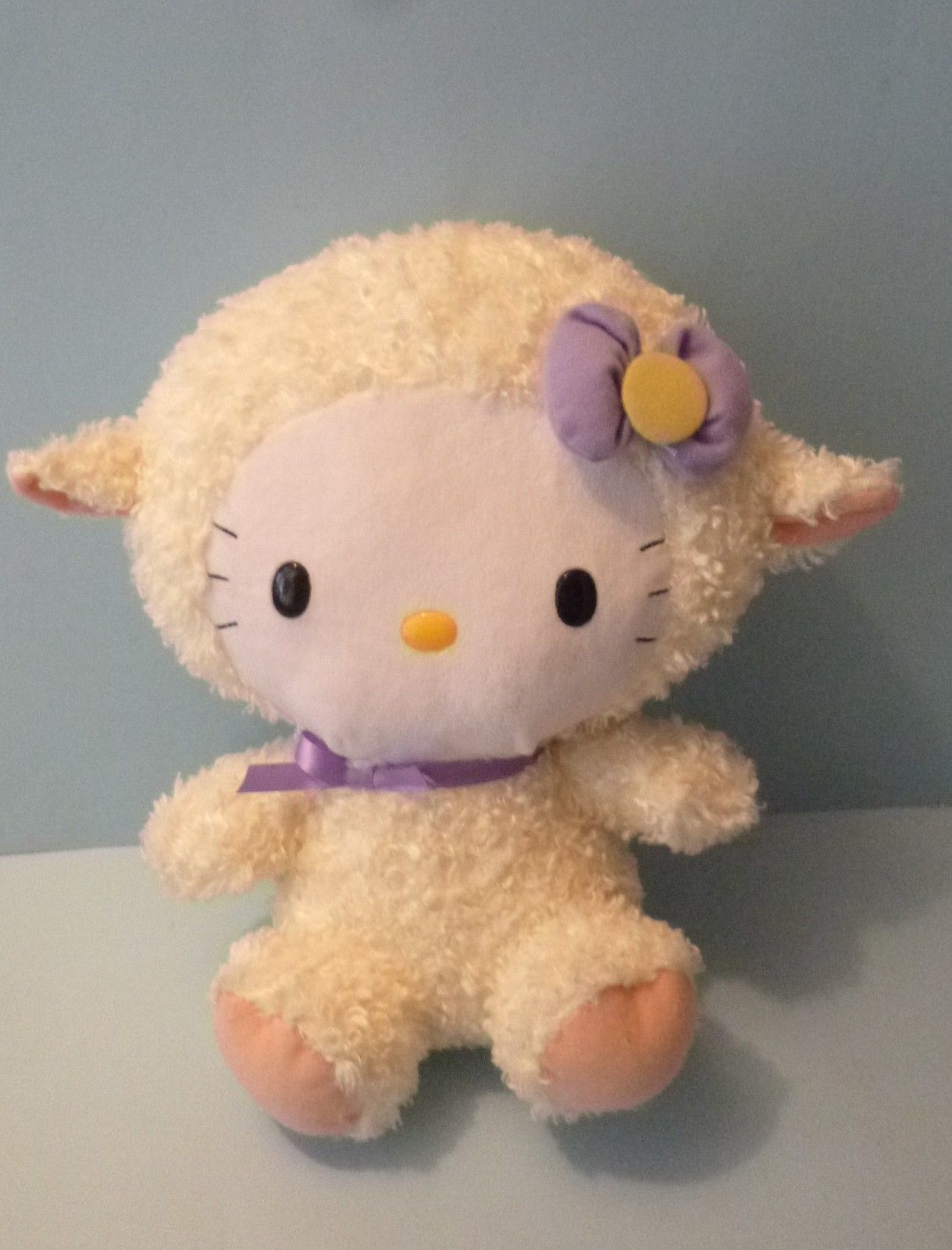 323053f9d25 TY Beanie Buddy Sanrio Hello Kitty Purple Lamb Sheep Stuffed Animal Plush  12