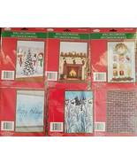 Large Christmas Wall Murals Fireplace Bricks Santa  Select: Theme - $2.99