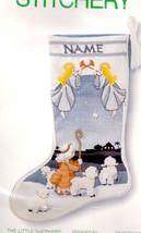 Vintage Sunset The Little Shepherd Angels Bethlehem Crewel Stocking Kit ... - $245.95