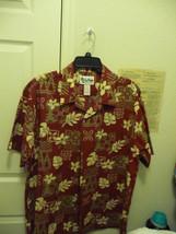 Gently Worn Howie Hawaiian Aloha Shirt Made in Hawaii by Men's L Short S... - $22.00