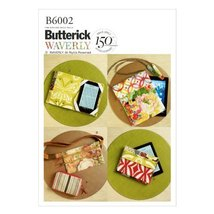 Butterick Patterns B6002 Zipper Case, Belly Bag and Electronic Device Cases, One - $14.70