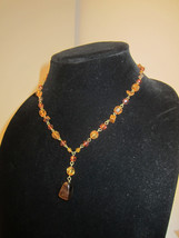 EUC Dainty & Delicate Claire's Amber Hued Beaded Tiger's Eye Necklace =K2 - $12.00