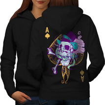 Ace Spade Card Skull Sweatshirt Hoody  Women Hoodie Back - $21.99+