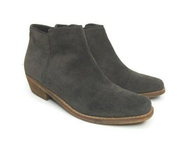 Sam Edelman Size 9 Mercer Suede Ankle Boot Gray Side Zip Booties - $38.60