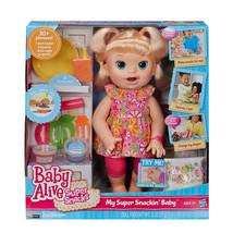 Baby Alive Snackin Sara Blonde Doll - $299.00