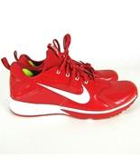 Nike Alpha Huarache Turf Basket Baseball Chaussures Hommes 15 Rouge Blanc - $77.95