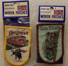 Vintage San Diego Tijuana Cable Car Koala Iron On Souvenir Woven Patches... - $9.89