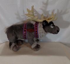 "DISNEY FROZEN SVEN Reindeer 13"" Stuffed Animal Plush Toy Gray - $12.81"