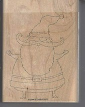 Stampin' Up! Santa Wood-Mounted Rubber Stamp - Retired 2006 - $27.99