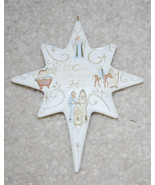 "Star O Come Let Us Adore Him Christmas Ornament Holiday Decoration 4.5"" ... - $14.80"