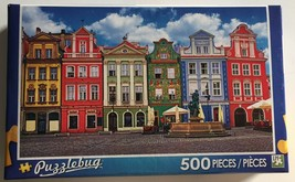 "Puzzlebug - ""Colorful Buildings Ponzan Poland"" - 500 Piece Puzzle Complete  - $5.89"