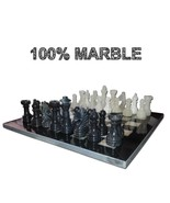 JT Handmade Black and Onyx Marble Chess Set Game Original - 12 inches - $328.70