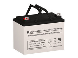 Crown Battery 12CE33 Replacement Battery By SigmasTek - GEL 12V 32AH NB - $79.19