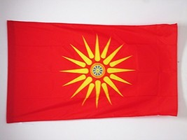 MACEDONIANS ETHNIC FLAG 3' x 5' for a pole - MACEDONIA FLAGS 90 x 150 cm... - $32.07