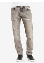 Men's levis original 501 graphite ripped  destroyed size 34 straight leg - $33.24