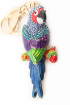 Parrot Multi-Color Keychain Rhinestone Crystal Cute Animal Bird #MCK11 - $18.17