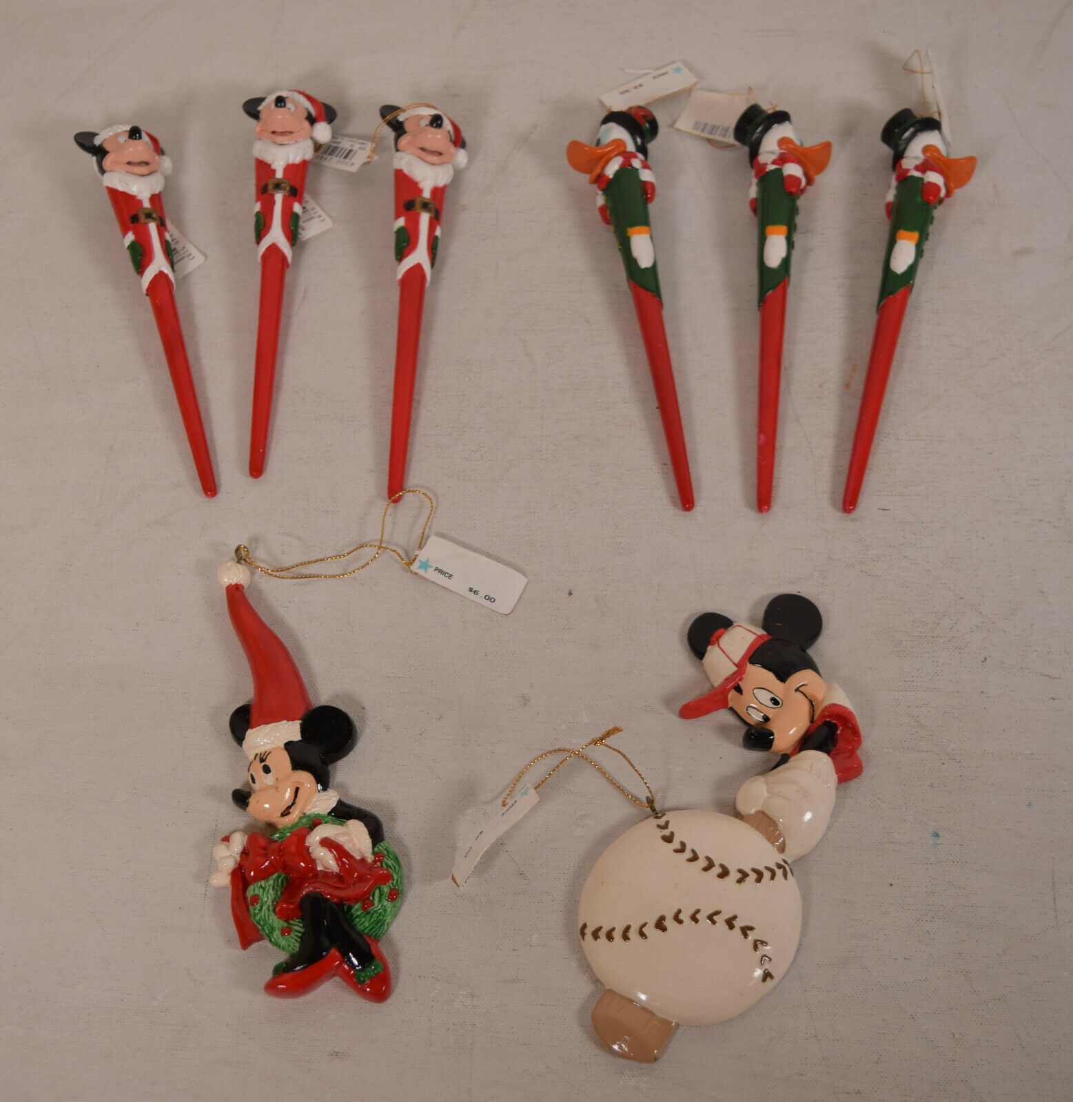 Primary image for Lot of Mixed 8 Disney Kurt Adler Mickey Christmas Ornament NWT