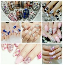 Crystal Glass Sequins Nails Art Rhinestones For 3D Rhinestones Decoratio... - $6.29