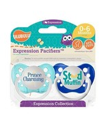 Ulubulu Boys Pacifier Set - Prince Charming Binky - Stud Muffin Soother ... - $12.99