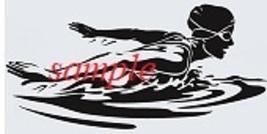 Girl Swimmer  PDF Cross Stitch Chart, Sports, Backstroke or Butterfly - $8.00