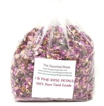 1 lb DRIED PINK ROSE PETALS TEA Buds Soap Craft Potpourri Drawer Bath Sa... - $15.95