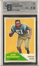 1960 Fleer #122 Jim Matheny GAI 7.5 NEAR MINT + - $39.55