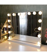 Fenair Makeup Mirror with Lights USB Outlet Hollywood Vanity Mirror, 3 C... - $125.99