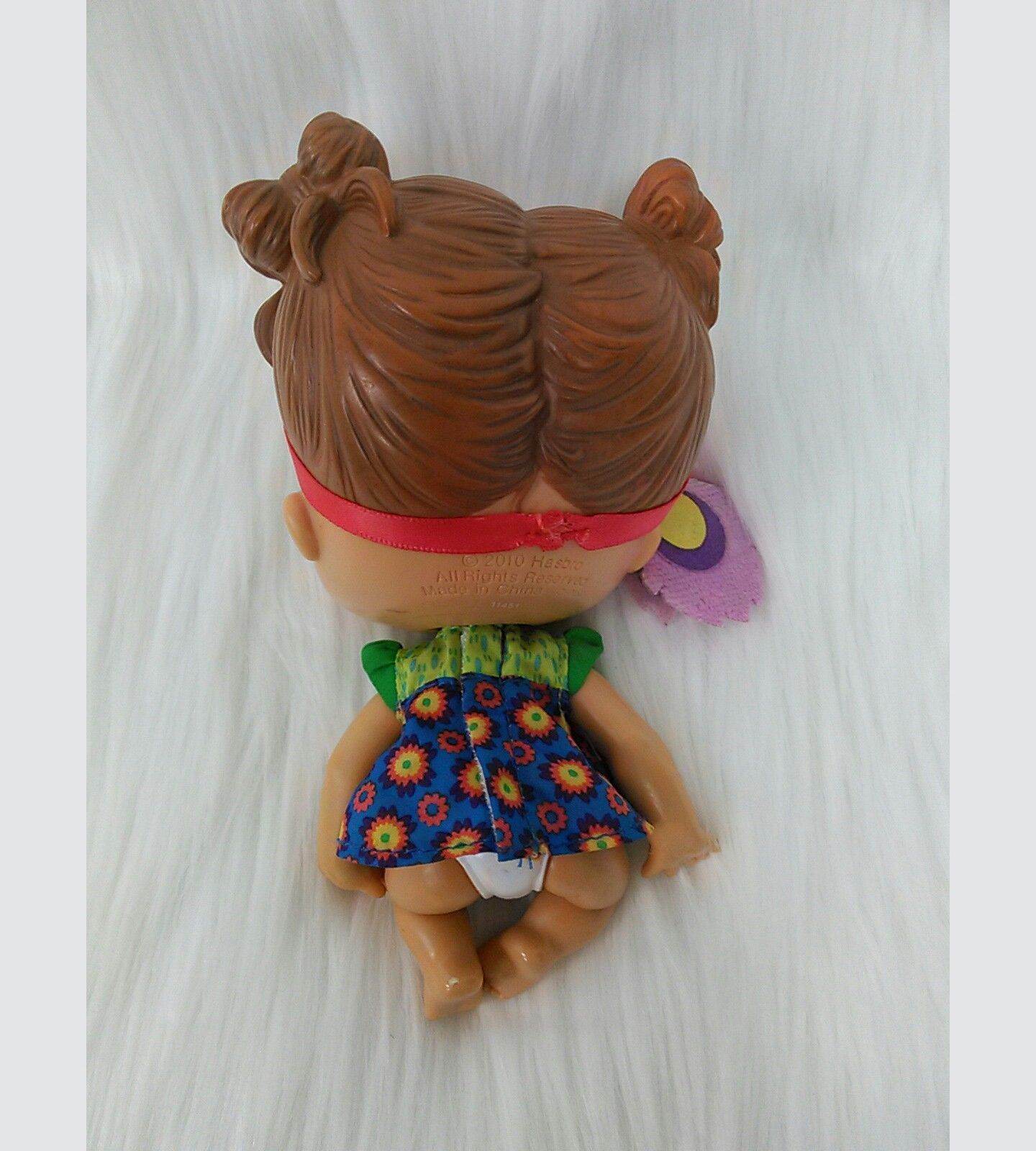 "6"" Baby Alive Crib Life Makayla Song Doll Retired 2010 Brown Hair Blue Eyes B211 image 2"