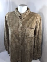 Sag Harbor Men Brown Plaid Button Up Dress Shirt Soft Fabric Long Sleeve... - $17.75