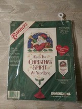 Dimensions Keep The Christmas Spirit Counted Cross Stitch Kit Banner 8581 New... - $18.80