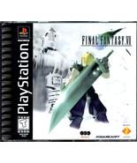 FINAL FANTASY VII  (Sony PlayStation 1 (1997) Black Label Game Complete - $42.50