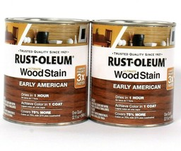 2 Cans Rust-Oleum 32oz Ultimate Wood Stain 344723 Early American Dries I... - $29.99