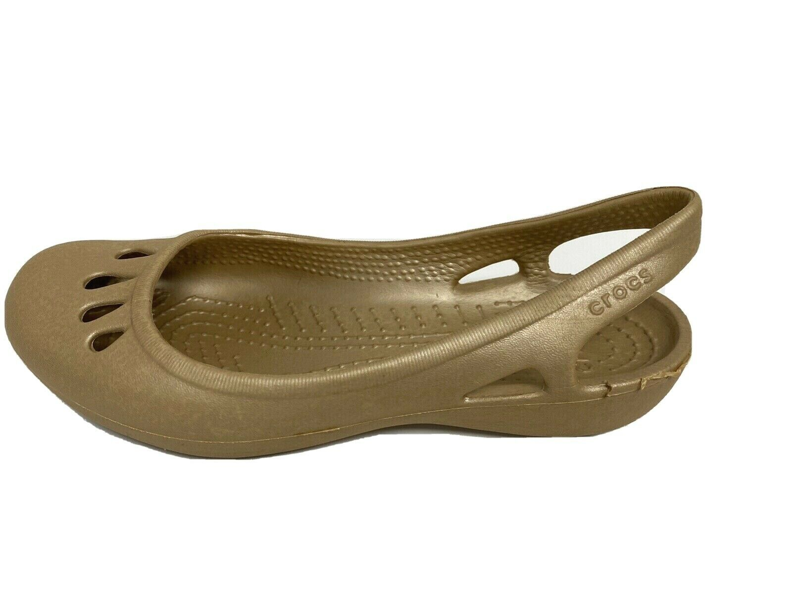 Primary image for Crocs women's sandals ballerina gold size 5