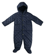 Polo Ralph Lauren Infant Baby Quilted One Piece Snowsuit, Navy, 3Months,... - $63.10