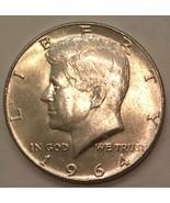 1964 BU Silver Kennedy Half Dollar CP2000 - $9.75