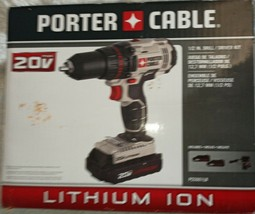 NEW IN BOX PORTER-CABLE PCC601LB 1/2 INCH DRILL DRIVER, 2 LITHIUM BATTERIES - $82.24