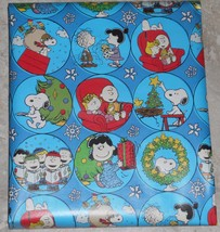 American Greetings Peanuts Snoopy Lucy Christmas Wrapping PAPER 20 sq ft... - $4.75