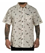 Sullen Sailor Life Mermaids Anchors Palm Trees Tattoos Button Down Shirt SCM3274 - $59.99